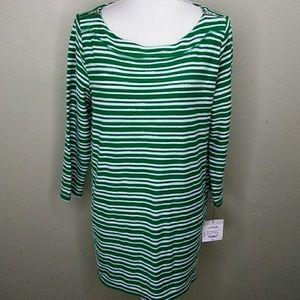 Liz Claiborne Zippered Shoulders Knit Tunic Top L